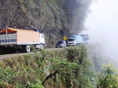 Yungas Road or Death Road, Bolivia - 13 Spooky Places to Visit