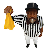penalty - referee - referee throwing flag