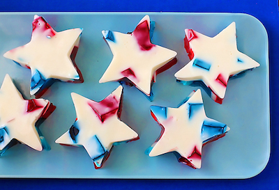 July 4th Recipes: Stained Glass Red, White, and Blue Jello