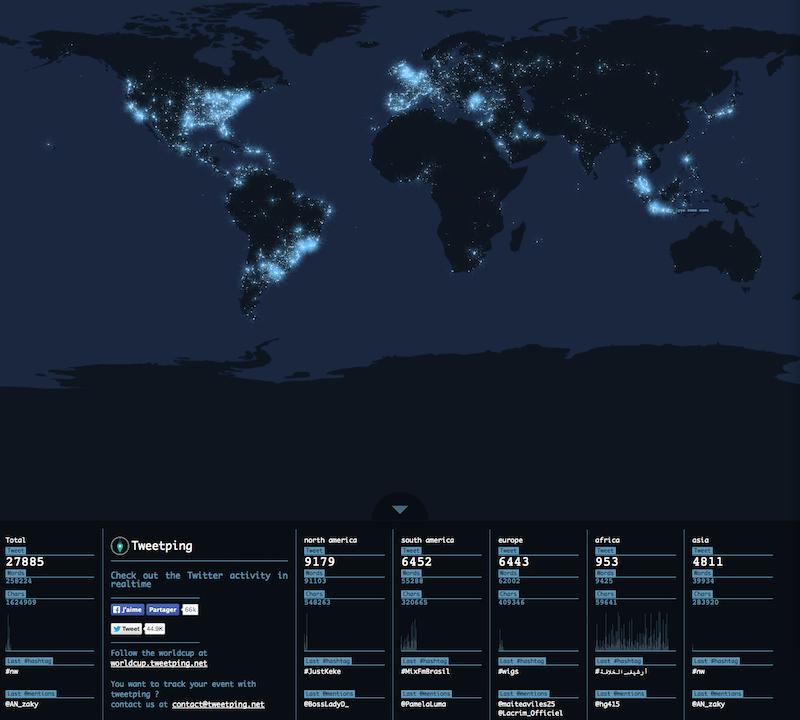 Dtweetmap - track tweets