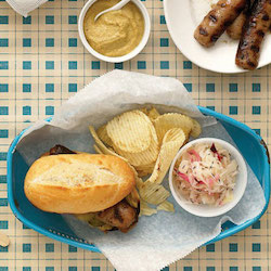 Midwestern Grilled Bratwurst Sandwiches - American Style Hot Dog Recipes