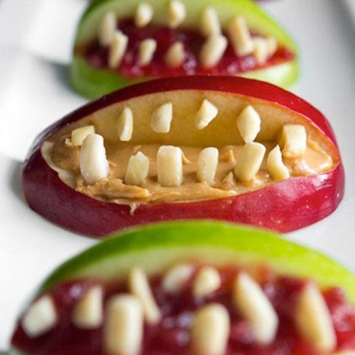 Friday Five: Frightening Finger Foods for Halloween - apple bites