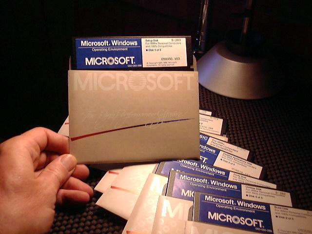 TBT Look Into the First Windows - Floppies