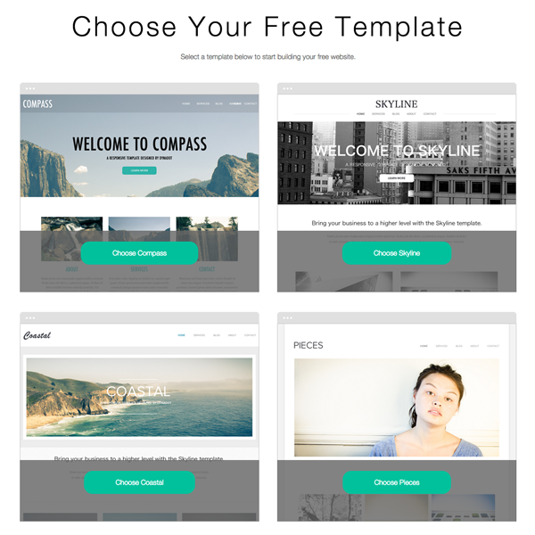 Favorite Dynadot Website builder Features - Templates