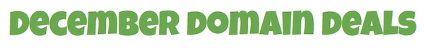 December Domain Deals