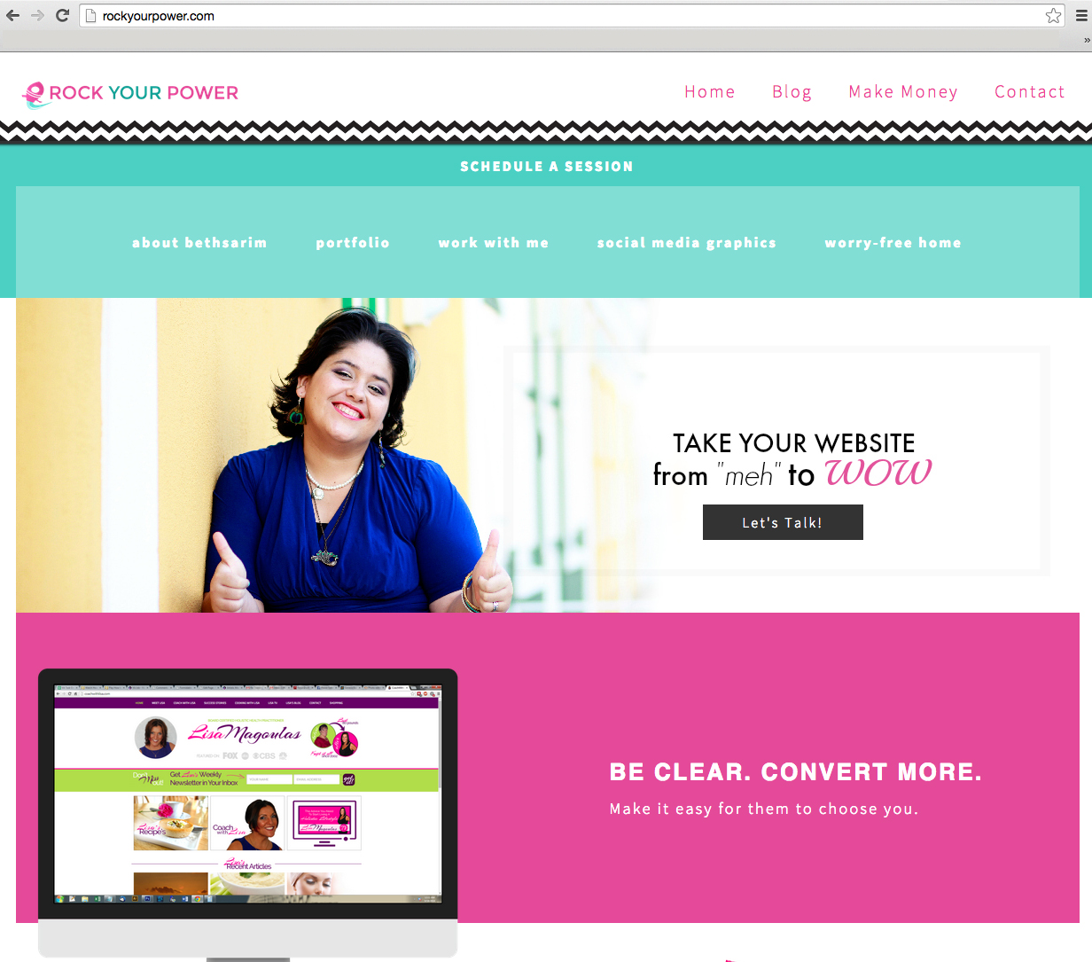 Rock Your Power: Website Shows True Colors - Home Page