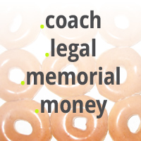 New Launching gTLDs : Register .COACH Domains : Register .LEGAL Domains : Register .MEMORIAL Domains : Register .MONEY Domains - TLD Logos