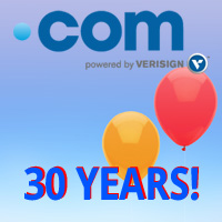 .COM 30th Anniversary - .COM Domain Sale - Register .COM Domains - .COM Birthday