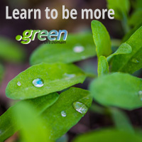 .GREEN gTLD Launch: How to Be More Sustainable : Register .GREEN Domains - Plants .GREEN Domain Logo