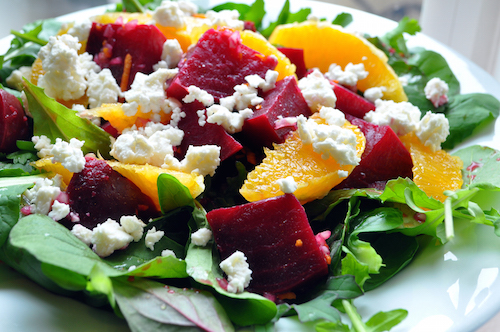 Colorful Food Recipes : .BLUE Domain Sale : .RED Domain Sale : .PINK Domain Sale : .BLACK Domain Sale - Beet Salad with Orange & Feta