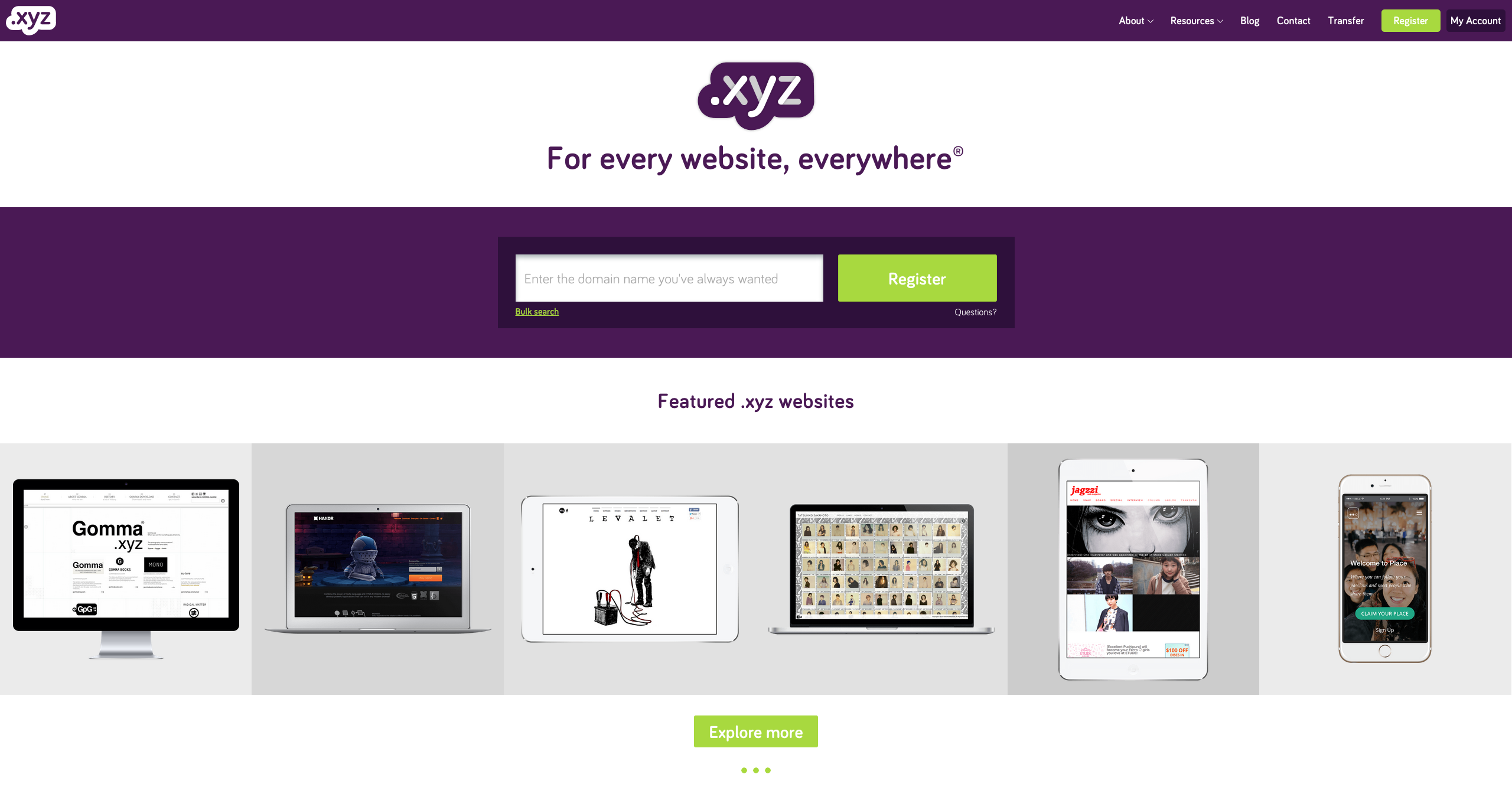 Generation .XYZ Domain Celebrates 1 Year Birthday : .XYZ Domain Sale - Gen.XYZ Home Page