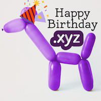 Generation .XYZ Domain Celebrates 1 Year Birthday : .XYZ Domain Sale - .XYZ Domain Birthday!