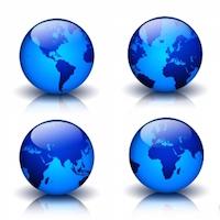 5 Top Summer Destinations : .GLOBAL Domain Sale : Register .GLOBAL Domains - blue globes