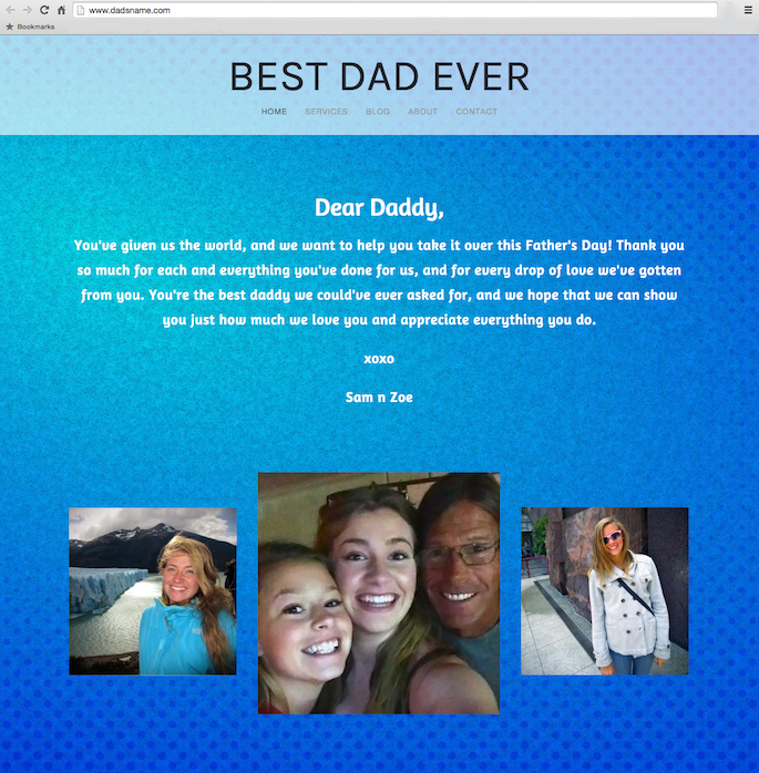 Domain Names for Father's Day : Unique Father's Day Gift Ideas - Father's Day Website