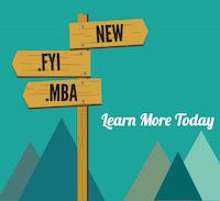Check out our new domains : .FYI and .MBA have just launched: Register Today - launch picture