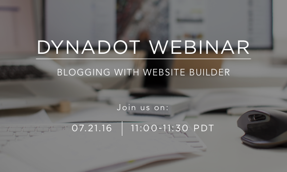 Dynadot Webinar: Blogging with Website Builder