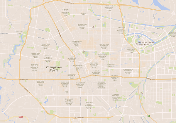 Google Map of Zhengzhou