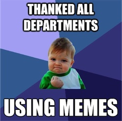 Success Kid Thank You Meme