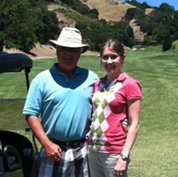 Robyn Norgan golfing on Father's Day