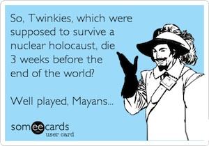Twinkies End of World eCard