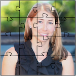 The author Robyn Norgan as a puzzle