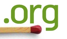 .ORG domain logo with a match underneath