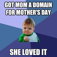 Success Kid Meme - Mother's Day Gift Success