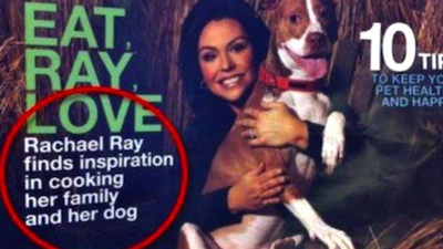 Rachel Ray Tails Magazine Comma Fail