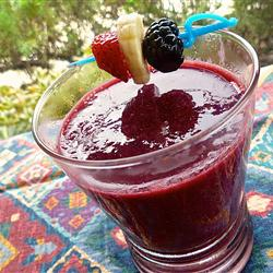 A berry smoothie in a glass
