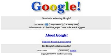 Google Website 1998