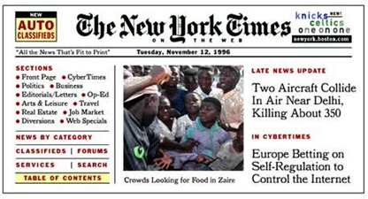 New York Times Website 1995