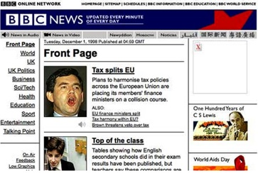 BBC Website 1998