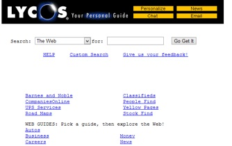Lycos Website 1998