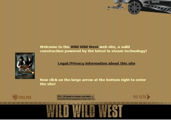 Wild Wild West Movie Website 1999