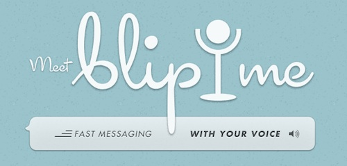 blip.me walkie talkie voice messaging app
