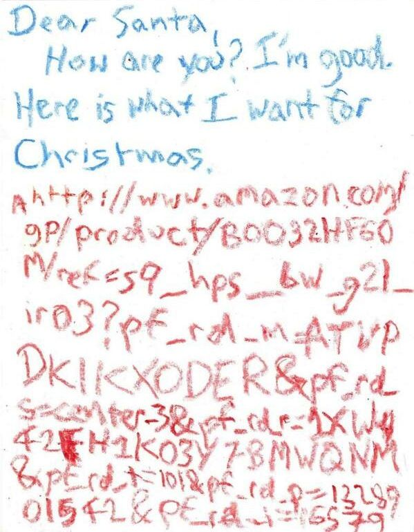 Santa Letter Amazon Link Custom Short URL