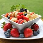 red white blueberry fruit salad