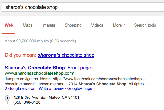 Example of Google Local Small Business Search Results - Why You Should Use Search Engines to Find Websites