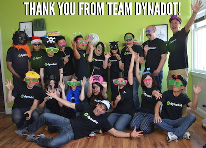 Thank you for Team Dynadot!