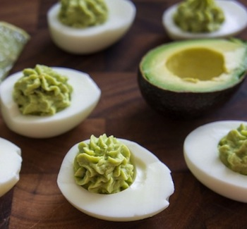 Guacamole Deviled Eggs Recipe - St. Patrick's Day