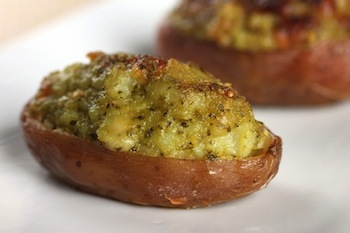 Twice Baked Potatoes with Pesto Recipe - St. Patrick's Day
