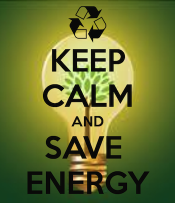 Keep Calm and Save Energy poster