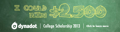 Banner for $2,500 Dynadot College Scholarship 2013